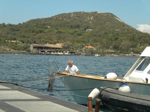 Elderly Sicilian on a boat.