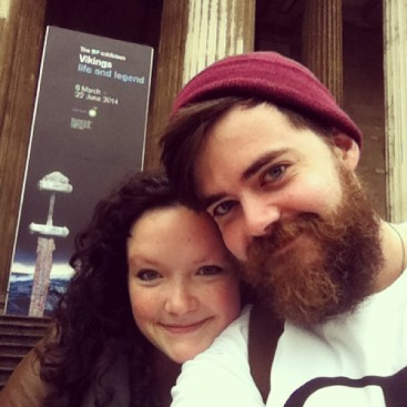 My husband and I in London.